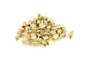 38 Pcs PC PCB Motherboard Gold Tone Brass Standoff Hexagonal Spacer M3 5+4mm