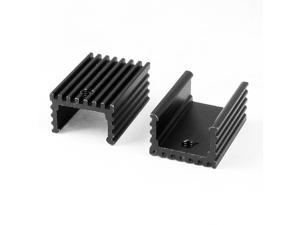 5pcs 15x10x21mm Black Rectangle Aluminium Heatsink Heat Cooling Fin