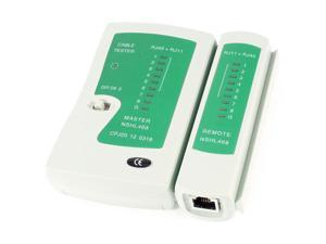 NAHL- 468 RJ45 RJ11 Phone LAN Ethernet Network Cable Tester Green Gray