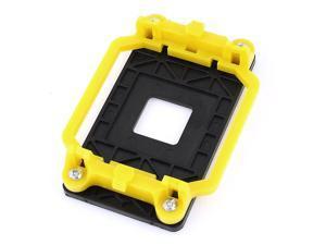 AMD AM2 940 Socket CPU Fan Heatsink Bracket Holder Base Yellow Black