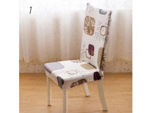 Removable Stretch Elastic Slipcovers Short Dining Room Stool Chair Seat Covers