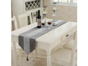 Sparkle Luxury Diamante Table Runner Velvet Wedding Party Decor 32 x 180cm Gray