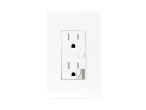 Enerwave ZW15R Z-Wave Wireless 120VAC 15A Temper Resistant (TR) Duplex Receptacle with Two Free Wall ...