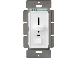 Enerlites 50321-W 3-Way/Single Pole Halogen/Incandescent Light Dimmer Switch with LED Indicator 120V/700W, White