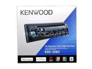 Kenwood KDC-258U Car CD Receiver with Front USB and Aux Inputs New KDC258U