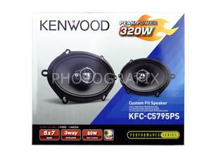 "Kenwood KFC-C5795PS 5x7"" Performance Series 3-Way Custom Fit Coaxial Speaker KFC"