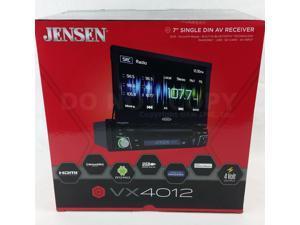 "NEW! Jensen VX4012 Single DIN Bluetooth DVD Car Stereo w/ Flip-out 7"" Display"