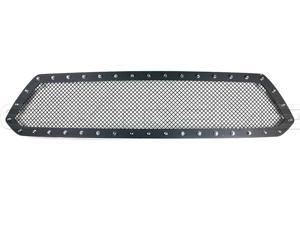 For Toyota Tacoma 2012-2015 Steel Black Rivet Mesh Grille
