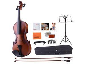 ADM 4/4 Full Size Handcrafted Solid Wood Violin with Starter Kits for Beginners (Varnish Finish) - Brown