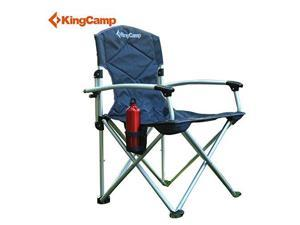 KingCamp Lightweight Camping Chair with Carry Bag, Black-Grey