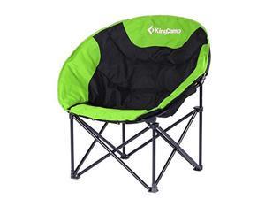 KingCamp Moon Leisure Camping Chair, Black/Green