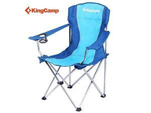 KingCamp Steel Arms Folding, Camping Chair with Carry Bag, Blue