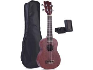 ADM Mahogany Soprano Ukulele Beginner Kit with Gig Bag, E-tuners