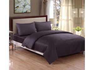 Honeymoon Cotton 400 Thread Count 4Pcs Bedding Sheet Set - Queen Size - Dark Gray