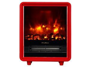 PuraFlame Octavia Red 12 inch Portable Electric Heater - Eco Friendly - 1500W