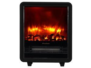 PuraFlame Octavia Black 12 inch Portable electric Heater, Eco Friendly, 1500W