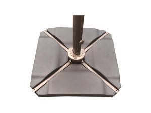Abba Patio Plastic Umbrella Base Plate Set for Cantilever Offset Umbrella in Black