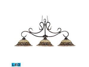 Elk Tiffany Buckingham 3-Light Billiard/Island, Vintage Antique - 348-VA-LED