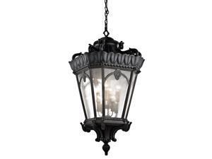 Kichler Lighting #9568BKT,Traditional 8 Light Outdoor Hanging Pendant in Textured Black