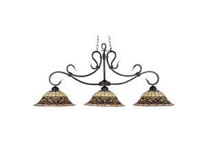 Elk Lighting Tiffany Buckingham 3-Light Billiard/Island Vintage Antique - 348-VA
