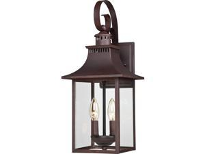 Quoizel Chancellor Outdoor Wall Lantern, Copper Bronze - CCR8408CU