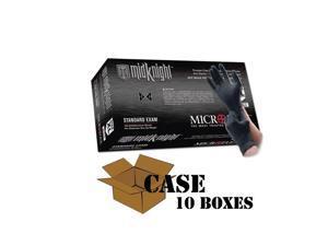 Microflex - Black MidKnight Nitrile Gloves-Case
