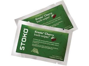 Stoko Single Pack Pouch Red Kwik-Wipes Cherry Scented Waterless Hand Wipes