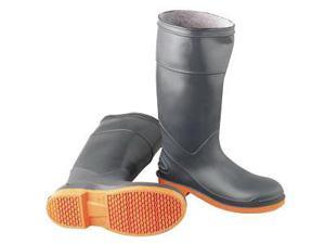 "Onguard Industries Size 13 SureFlex Gray 16"" PVC Chemical Resistant Knee Boots With Safety-Loc Orange Outsole, Steel Toe And Removable Insole"
