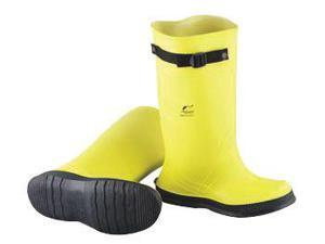 "Onguard Industries Size 14 Slicker Yellow 17"" PVC And Flex-O-Thane Overboots With Self-Cleaning Cleated Outsole And Strap"