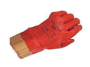 Ansell Size 8 Nitrasafe Heavy Duty Cut Resistant Orange Foam Nitrile Fully Coated Work Gloves With DuPont Kevlar And Jersey Liner And Gold Safety Cuff