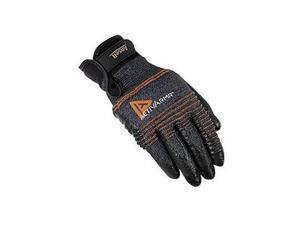 Ansell Size 8 ActivArmr 15 Gauge Medium Duty Multi-Purpose Cut Resistant Black Foam Nitrile Palm And Fingertip Coated Work Gloves With DuPont Kevlar Liner And Adjustable Knit Wrist