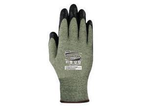 Ansell Size 9 PowerFlex 13 Gauge Medium Duty Special Purpose Cut And Flame Resistant Foam Palm Coated Work Gloves With DuPont Kevlar Liner And Knit Wrist