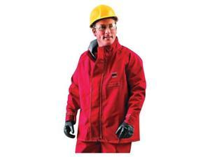 """Ansell 2X Red 30"""" Sawyer-Tower CPC Polyester Trilaminate Gore Fabric Chemical Protection Jacket"""