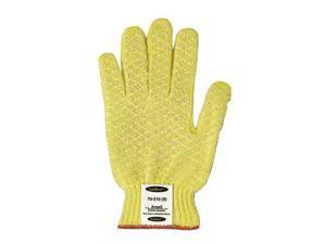 Ansell Size 10 Yellow GoldKnit Dotted Style Gunn Cut Medium Weight Cut Resistant Gloves With Knit Wrist, Kevlar Lined And PVC Dots Coating