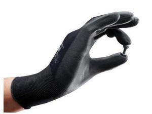 Ansell Size 6 SensiLite Light Weight General Purpose Abrasion Resistant Black Polyurethane Dipped Palm Coated Work Gloves With Nylon Liner And Elastic Cuff