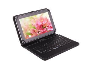 """IRULU eXpro X1a 9"""" Google Android 4.4 KitKat 8GB Quad Core Tablet White With Free Black Keyboard"""