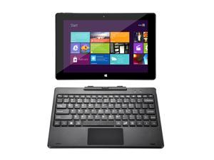 iRULU Walknbook 10.1-Inch 32GB 2-in-1 Tablet PC - Microsoft Windows 10 OS, Quad Core, IPS Display, Metal Cover, 1280*800 Resolution, Detachable Keyboard With Stand - Dark Gray