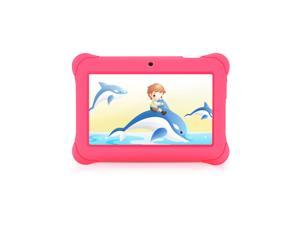 iRULU 7-Inch Quad Core Kids Tablet - GMS Certified by Google, Android 4.4 Kitkat, 1024*600 HD Resolution, 1GB RAM 8GB Nand Flash - Pink