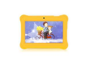 iRULU 7-Inch Quad Core Kids Tablet - GMS Certified by Google, Android 4.4 Kitkat, 1024*600 HD Resolution, 1GB RAM 8GB Nand Flash - Yellow