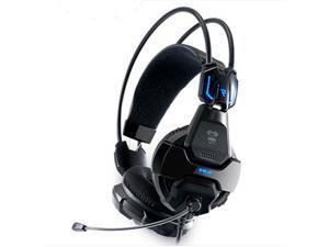 E-3LUE E-blue COBRA HS707 Professional Blue Light Illuminated Gaming Game Headset Headphone with Microphone for Gamer MSN Skype Facebook YouTube