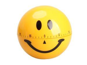 Mechanical Smiley Face Kitchen Cooking Timer Alarm 60 Minutes Yellow