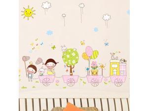 Cartoon kindergarten wall stickers Children room bedroom wall stickers can remove the wall stickers AY7060