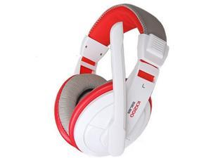 New Style Headband Computer headset with microphone Gaming Headset-white