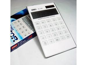 Digit Dual Powered Desktop Calculator, Tilted LCD Display