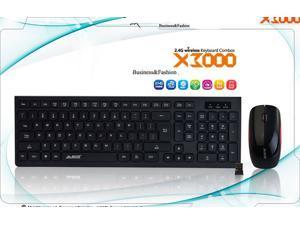 Jazz Wireless Mouse 2.4G wireless mouse and keyboard set light tone keypad light saving light saving X3000