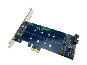 Dual SATA to Dual M.2 (NGFF) SSD PCIE power adapter
