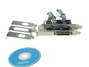 High quality! 2 Serial + 1 Parallel PCI express Card PCIe switch parallel port card serial cards