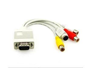 Professional VGA RCA adapter cable S-Video VGA to 3RCA AV cable VGA to S-Video cable