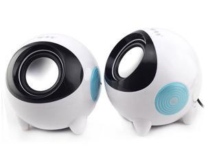 2pcs/lot(1Pair) Mini PC speaker e-02a notebook speaker usb mini 2.0 small speaker low price Mini Speaker