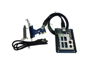 PCI-e USB2.0 to Express Card Adapter Supports MAC operating system, supports pcmcia 34mm / 54mm express card